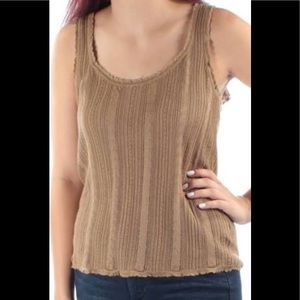 Ralph Lauren Womens Tan Sleeveless Casual Top 3X